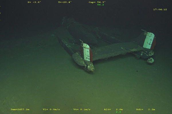L'épave de l'avion a été aperçu en mer par un navire océanographique 20 le novembre 2020.
