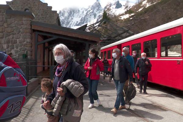 Le train du Montenvers, qui va de Chamonix à la Mer de Glace, a repris du service samedi 29 mai 2021.