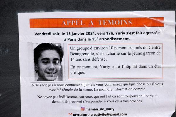 L'adolescent âgé de 15 ans a été grièvement blessé après avoir été tabassé par une bande dans le XVe arrondissement de Paris.
