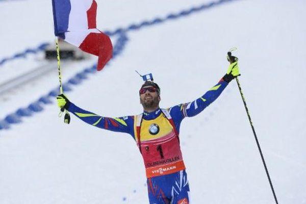 Martin Fourcade vainqueur de la Poursuite aux Mondiaux d'Oslo