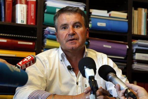 Paul François en 2015 lors d'une conférence de presse a propos de son combat contre Monsanto