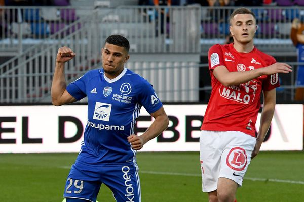 Yanis Merdji sous les couleurs de Bourg-en-Bresse en 2018.