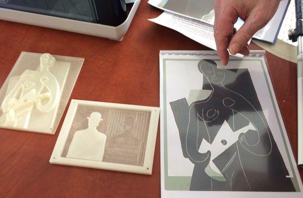 Pour faire découvrir les œuvres d'art aux aveugles et malvoyants, Régis Kern a opté pour l'impression 3D