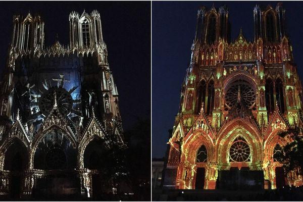Le spectacle Regalia projeté sur la façade de la cathédrale de Reims en juin 2019