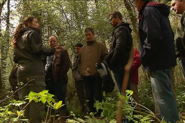 Les stagiaires dans la réserve de la Massone en Charente-Maritime.