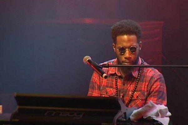 Le chanteur virtuose du clavier Cory Henry lors du dernier festival Jazz en Tête à Clermont-Ferrand