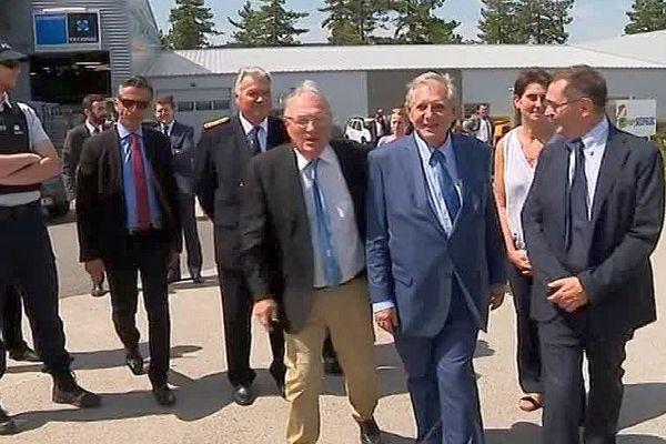 Jacques Mézard, le ministre de la Cohésion des territoires était en visite à Mende, ce lundi. - 31 juillet 2017.