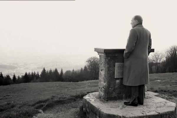 François Mitterrand au Mont Beuvray