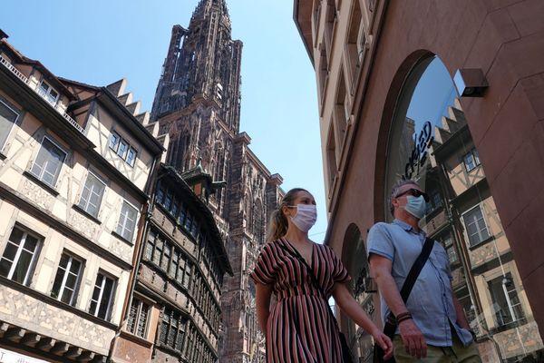 Les règles concernant le port du masque à Strasbourg avaient été assouplies à Strasbourg le 17 juin 2021.