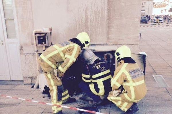 Les pompiers ont maîtrisé l'incendie à Chalon-sur-Saône.