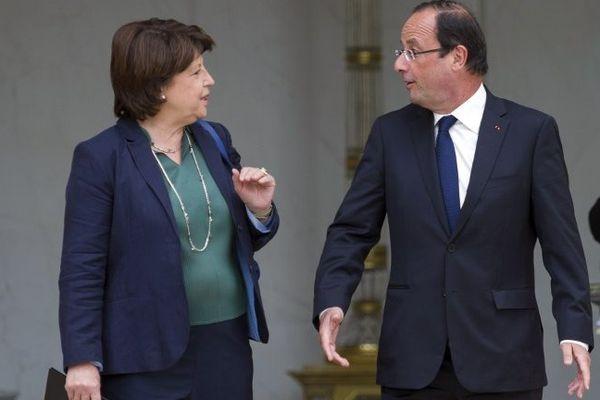 Martine Aubry et François Hollande en 2012.