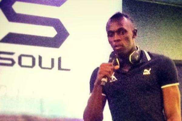 Usain Bolt le 4 juillet 2013, à l'occasion du meeting d'athlétisme Areva qui se tenait à Paris, au stade de France