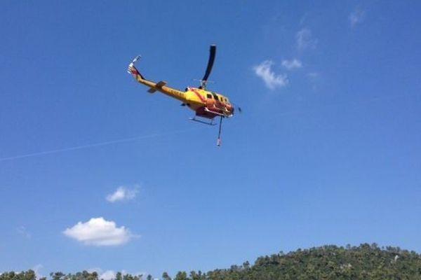 Deux hélicoptères ont été utilisés