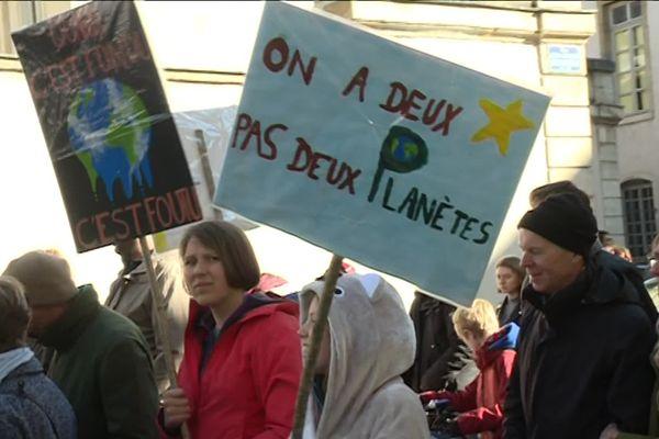Manifestation pour le climat en mars 2019 à Dijon.