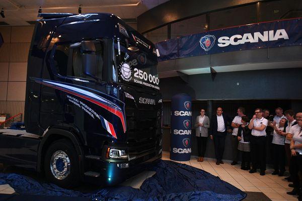 Le 250 000e camion produit par Scania Angers, janvier 2019