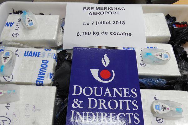 Il s'agit de la plus importante saisie de cocaïne à l'aéroport de Bordeaux Mérignac depuis 2010