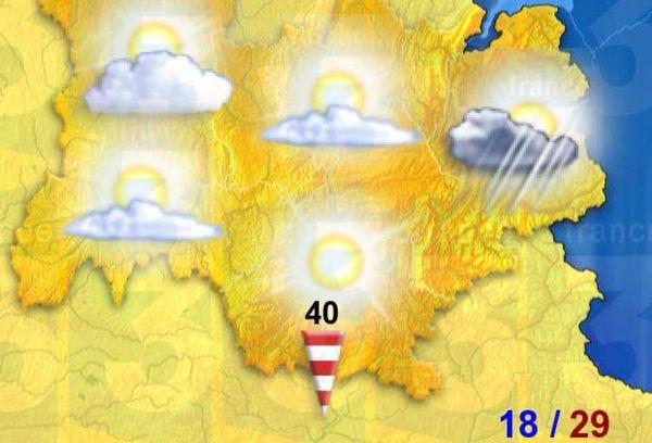 Les orages s'évacueront par l'est jeudi.