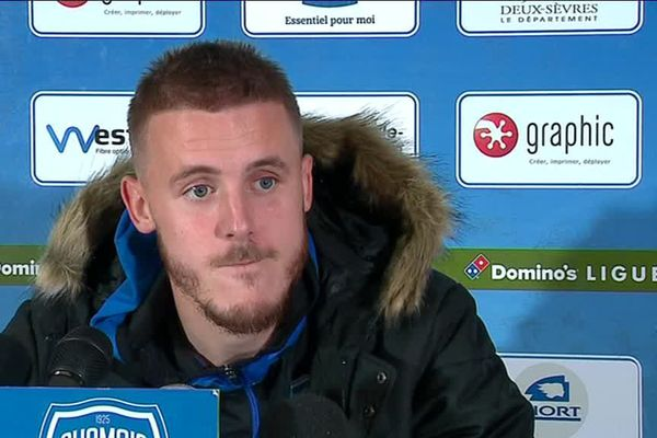 L'attaquant Thibaut Vion, satisfait à l'issue de la victoire face à Valenciennes.