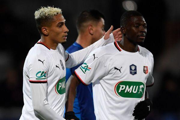19/01/2020. Sans trembler, Rennes poursuit la défense de son titre en Coupe de France grâce à sa victoire contre l'Athlético Marseille (N3) en 16e de finale