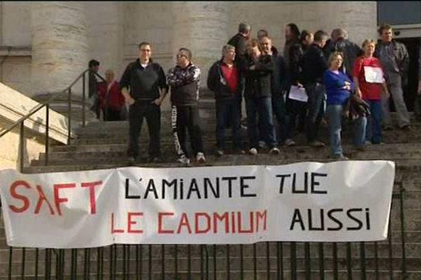 Manifestation des ouvriers de la SAFT