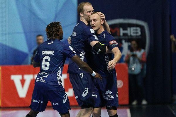 La joie du MHB  qui reste invaincu en Lidl StarLigue avec 13 victoires en 14 matches