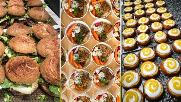 """les paniers repas """" gastronomiques """" livrés chaque jour gratuitement par les chefs et pâtissiers rennais à Pontchaillou."""
