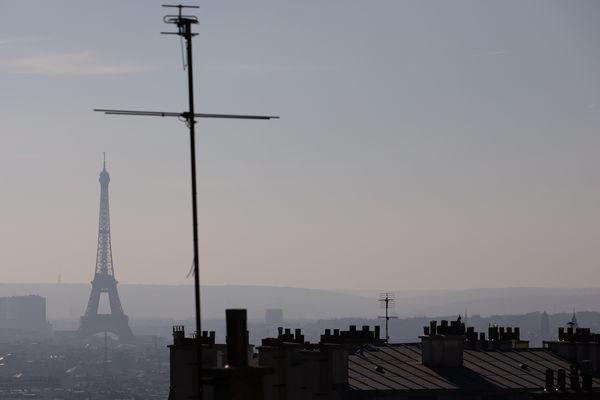 La capitale lors d'un pic de pollution aux particules fines, en février 2019.