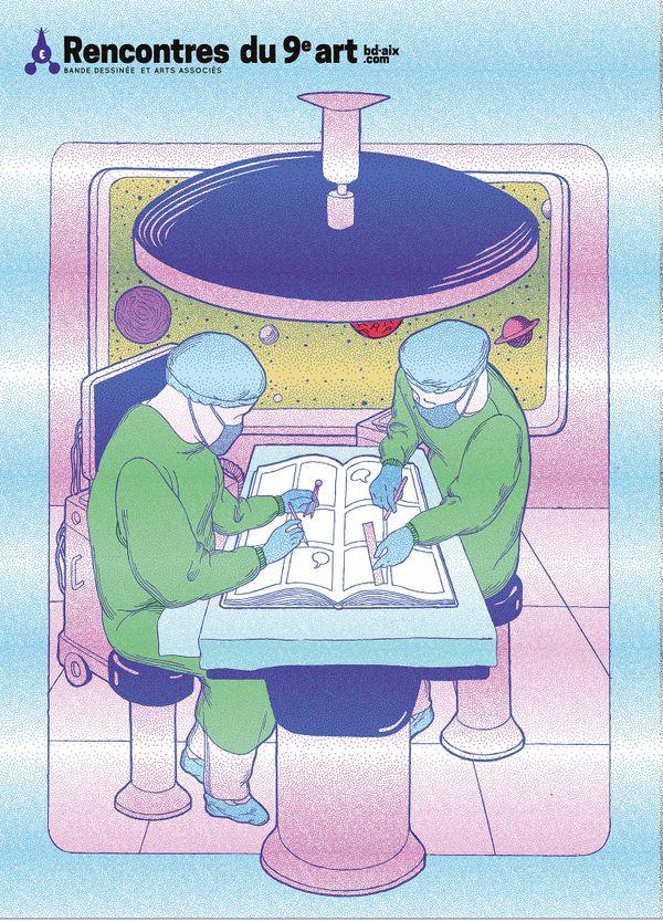 Affiche des Rencontres du 9e art 2021 - Illustration Botanike Komiks