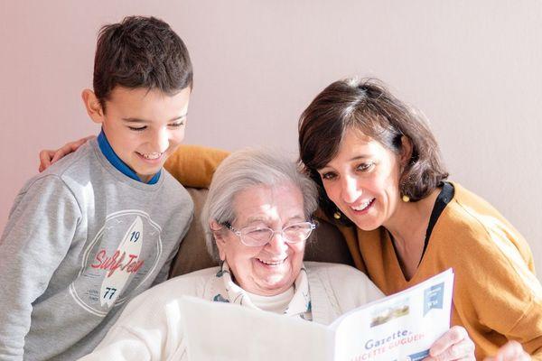 La gazette Famileo peut également être imprimée par une maison de retraite pour ses pensionnaires - DR
