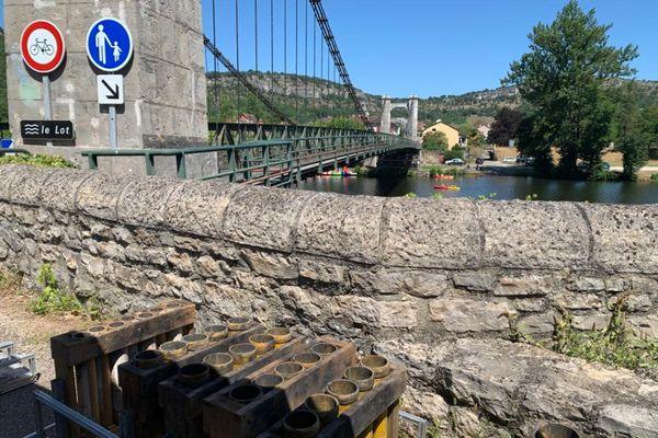 Le pont d'où sera tiré le feu d'artifice ce 13 juillet.