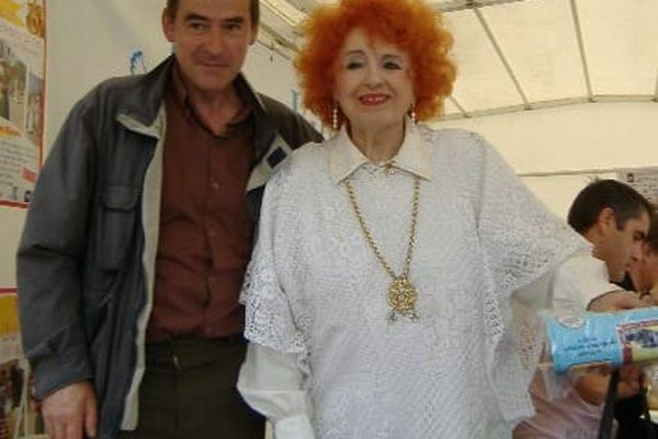 Joseph Courtecuisse avec Yvette Horner à Abbeville