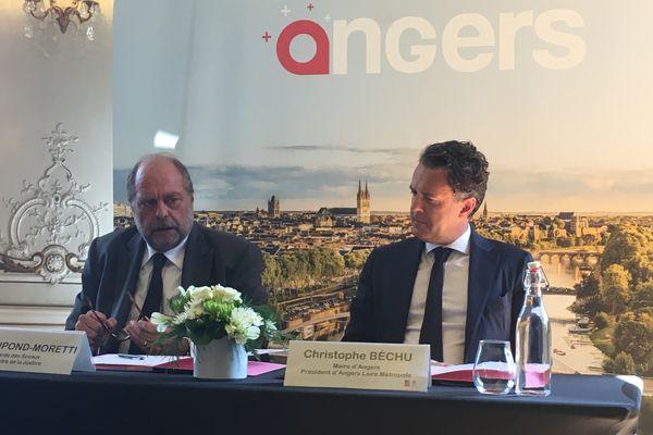Le Ministre de la Justice et le maire d'Angers ont signé un protocole actant le futur centre pénitentiaire