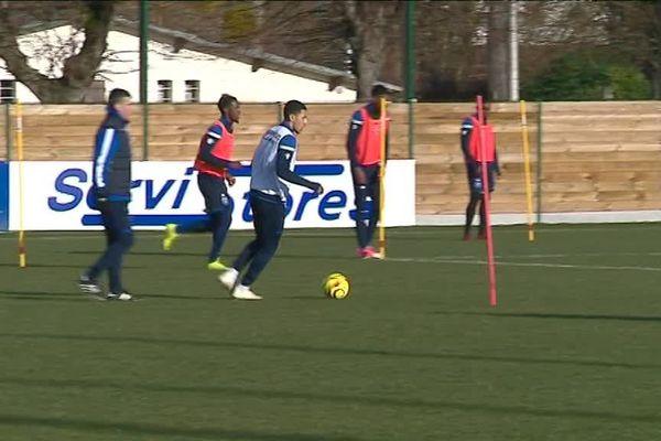 entraînement AJA avant le match contre Clermont