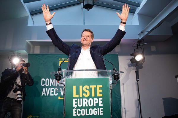 Discours de Yannick Jadot, tête de liste EELV, lors de la soirée électorale des européennes le 26 mai 2019