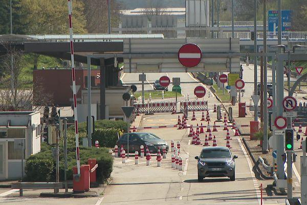 La frontière entre la France et la Suisse à Gaillard, en Haute-Savoie, le 1er avril 2021.