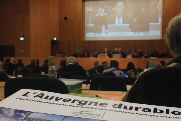 La dernière séance du Conseil régional d'Auvergne a lieu ce mardi matin.