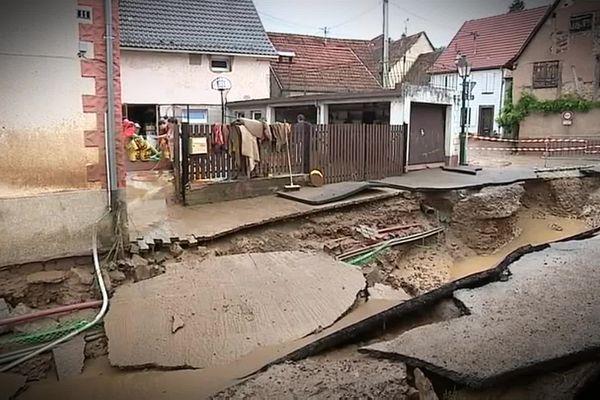Des dégâts impressionnants dans le village de Wasselonne en juin 2016.