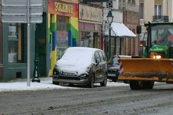Quelques centimètres de neige sont déjà tombés en début de semaine à Fourmies et dans l'Avesnois.