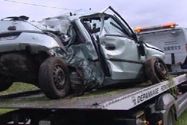 Accident route de Balézy ce matin