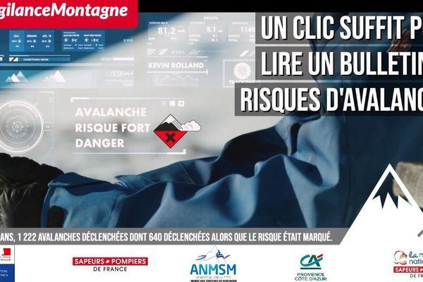 Campagne de sensibilisation #VigilanceMontagne sur les risques d'avalanche