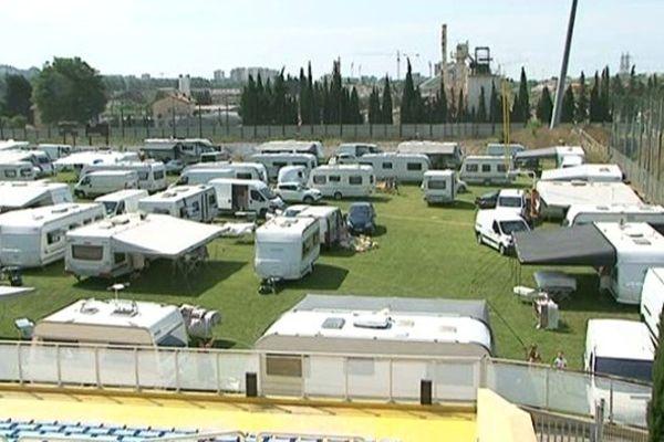 Les gens du voyage s'étaient installés sur le stade des Arboras à Nice