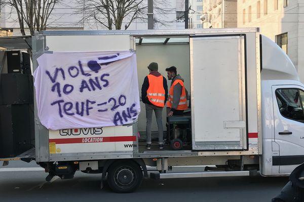 Manif de teufeurs pour les free party, le 6 mars 2021 à Nantes