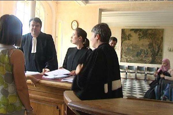 Lors de l'audience ce mercredi. Les avocats de la ville de Nice.