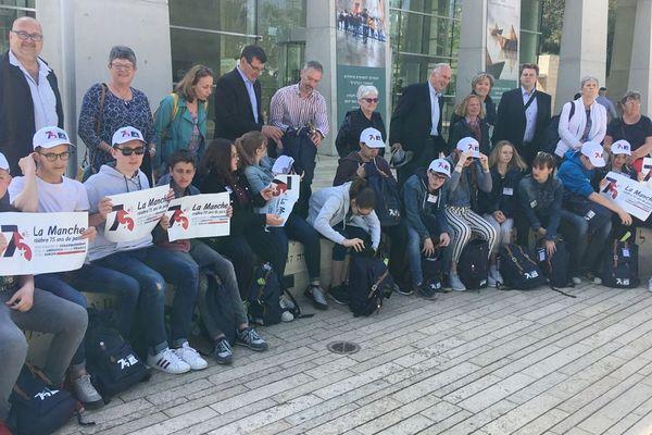 15 collégiens de Carentan ont visité ce mardi 23 avril le mémorial de Yad Vashem