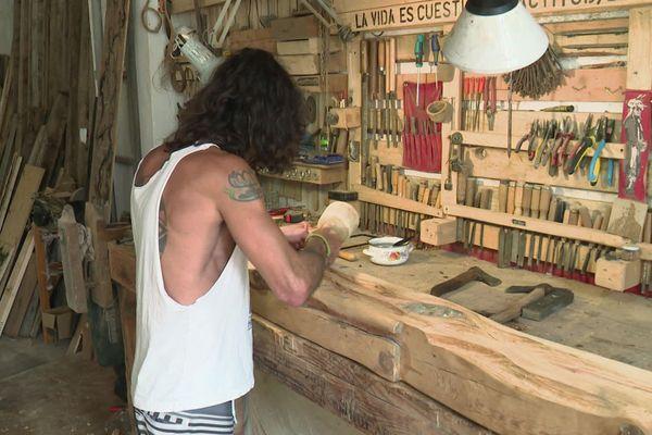 Montolieu - L'un des ateliers d'artiste de la manufacture - 01.07.20