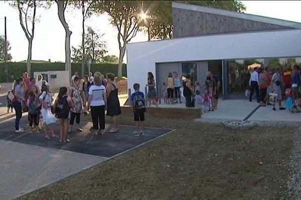 L'école de Grazac a été construite en une année et accueille les élèves pour sa première rentrée.
