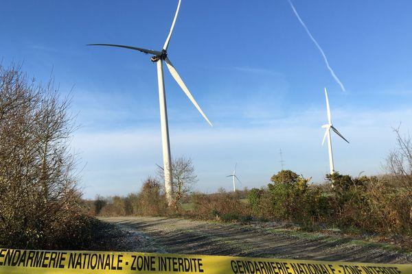 Un incendie a détruit le moteur de l'une des six éoliennes du parc de La Limouzinière, en Loire-Atlantique