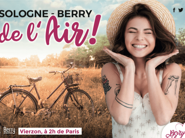 Cette affiche a été posée dans le métro et sur les parkings parisiens, dans le cadre de la campagne de communication pour le tourisme en Sologne et Berry.