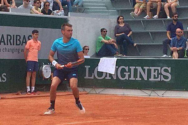 Le Gardois Benjamin Bonzi à Roland Garros - 21 mai 2018.