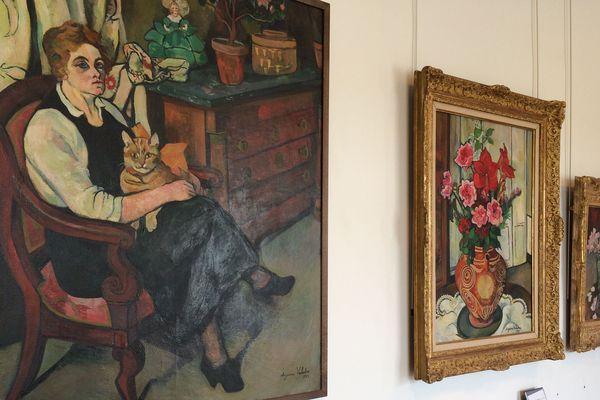 Oeuvres de Suzanne Valadon exposées au Musée des Beaux-Arts de Limoges.